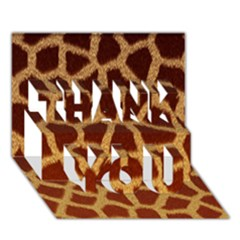 Giraffe Hide Thank You 3d Greeting Card (7x5)  by trendistuff