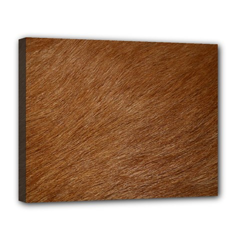 Dog Fur Canvas 14  X 11  by trendistuff