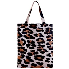 Black And Brown Leopard Zipper Classic Tote Bags by trendistuff