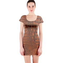 Alligator Skin Short Sleeve Bodycon Dresses by trendistuff