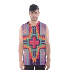 Tribal Star Men s Basketball Tank Top by LalyLauraFLM