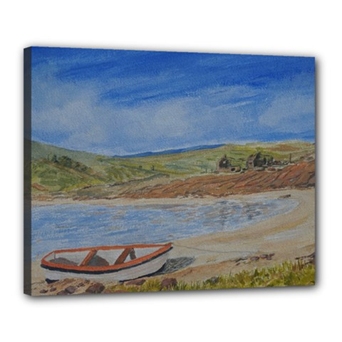 Boatonthebeach 15x10 Canvas 20  X 16  by JDDesigns