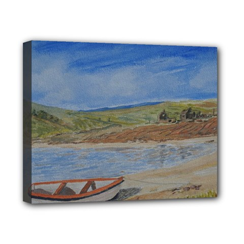 Boatonthebeach 15x10 Canvas 10  X 8  by JDDesigns