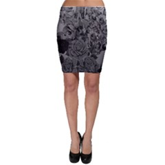 Platinum Roses Bodycon Skirts by LovelyDesigns4U