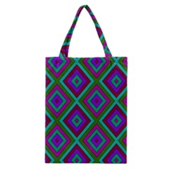 Diamond Pattern  Classic Tote Bags by LovelyDesigns4U