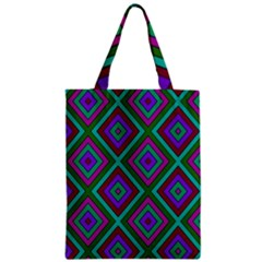 Diamond Pattern  Zipper Classic Tote Bags by LovelyDesigns4U