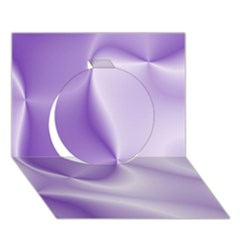 Colors In Motion, Lilac Circle 3d Greeting Card (7x5)  by MoreColorsinLife