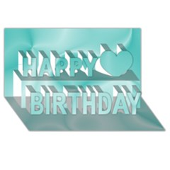 Colors In Motion,teal Happy Birthday 3d Greeting Card (8x4)
