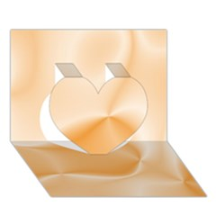 Colors In Motion,peach Heart 3d Greeting Card (7x5)