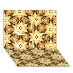 Faux Animal Print Pattern Clover 3d Greeting Card (7x5)  by creativemom