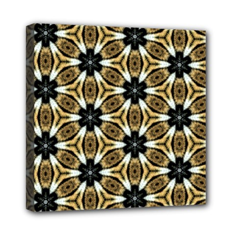 Faux Animal Print Pattern Mini Canvas 8  X 8  by creativemom