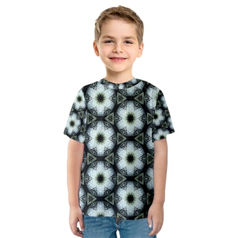 Faux Animal Print Pattern Kid s Sport Mesh Tees by creativemom