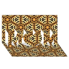 Faux Animal Print Pattern Mom 3d Greeting Card (8x4)  by creativemom