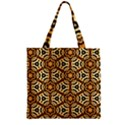 Faux Animal Print Pattern Zipper Grocery Tote Bags View1