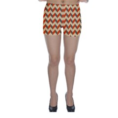 Modern Retro Chevron Patchwork Pattern  Skinny Shorts by creativemom