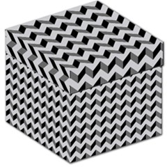 Modern Retro Chevron Patchwork Pattern  Storage Stool 12   by creativemom