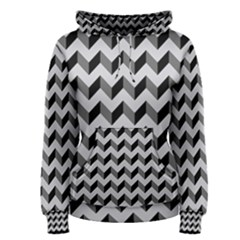 Modern Retro Chevron Patchwork Pattern  Women s Pullover Hoodies by creativemom