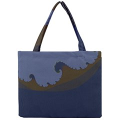 Ocean Waves Tiny Tote Bags