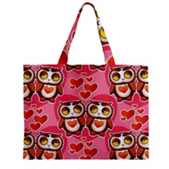 Cute Owls In Love Zipper Tiny Tote Bags by LovelyDesigns4U