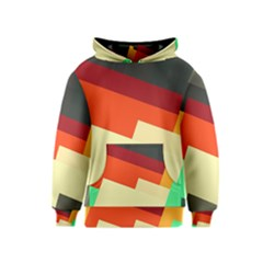Miscellaneous Retro Shapes Kid s Pullover Hoodie