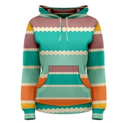 Rhombus And Retro Colors Stripes Pattern Women s Pullover Hoodie