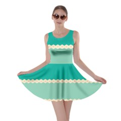Rhombus And Retro Colors Stripes Pattern Skater Dress