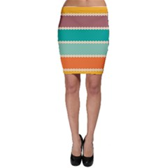 Rhombus And Retro Colors Stripes Pattern Bodycon Skirt