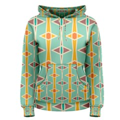 Rhombus Pattern In Retro Colors  Women s Pullover Hoodie