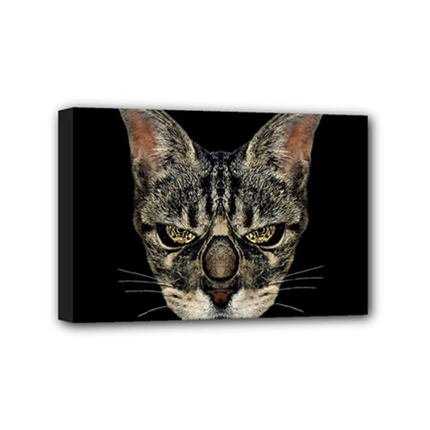 Angry Cyborg Cat Mini Canvas 6  X 4  by dflcprints