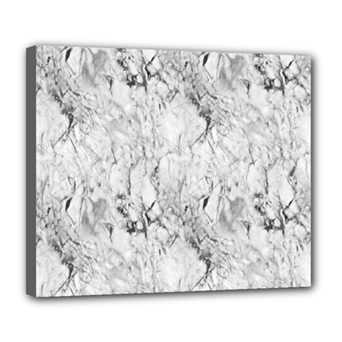 White Marble Deluxe Canvas 24  X 20   by ArgosPhotography