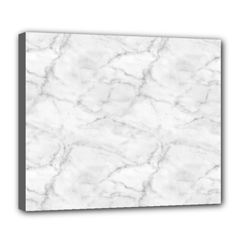 White Marble 2 Deluxe Canvas 24  X 20   by ArgosPhotography