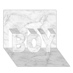 White Marble 2 Boy 3d Greeting Card (7x5) by ArgosPhotography