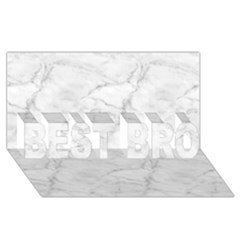 White Marble 2 Best Bro 3d Greeting Card (8x4)  by ArgosPhotography