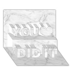 White Marble 2 You Did It 3d Greeting Card (7x5)