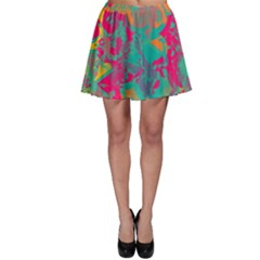 Fading Circles Skater Skirt by LalyLauraFLM