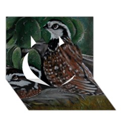 Bobwhite Quails Heart 3d Greeting Card (7x5)  by timelessartoncanvas