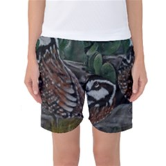 Bobwhite Quails Women s Basketball Shorts by timelessartoncanvas