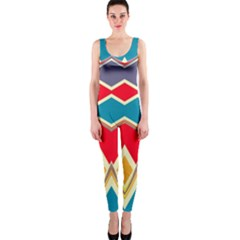 Chevrons And Rhombus Onepiece Catsuit by LalyLauraFLM