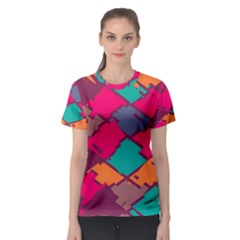 Pieces In Retro Colors Women s Sport Mesh Tee by LalyLauraFLM