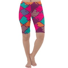 Pieces In Retro Colors Cropped Leggings by LalyLauraFLM