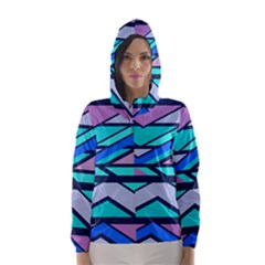 Angles And Stripes Hooded Wind Breaker (women)
