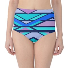 Angles And Stripes High-waist Bikini Bottoms by LalyLauraFLM