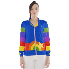Rainbow Jacket Wind Breaker (women) by Ellador