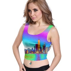Chicago Colored Foil Effects Crop Top by canvasngiftshop