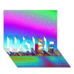 Chicago Colored Foil Effects Hope 3d Greeting Card (7x5)  by canvasngiftshop