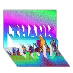 Chicago Colored Foil Effects Thank You 3d Greeting Card (7x5)  by canvasngiftshop
