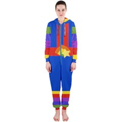 Rainbow Hooded Jumpsuit (ladies) by Ellador