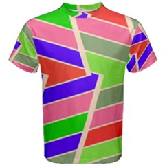 Symmetric Distorted Rectangles Men s Cotton Tee by LalyLauraFLM