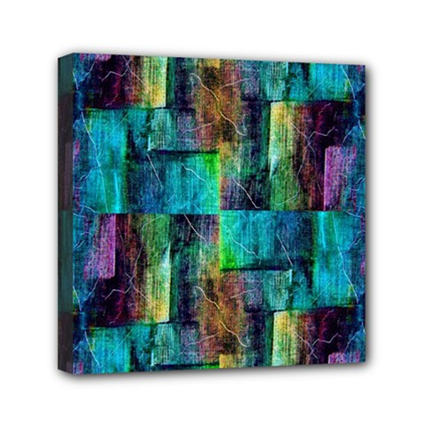 Abstract Square Wall Mini Canvas 6  X 6  by Costasonlineshop