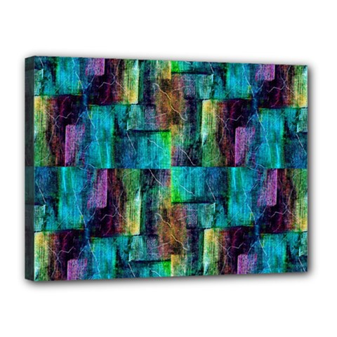 Abstract Square Wall Canvas 16  X 12  by Costasonlineshop
